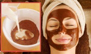 ماسك الكاكاو والحليب لتفتيح البشرة وتقليل الالتهابات
