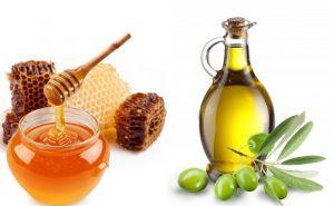 ماسك زيت الزيتون والعسل لترطيب عميق للشعر الجاف
