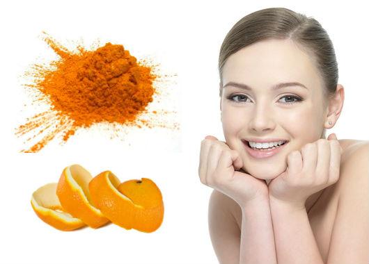 طريقة تحضير قناع البرتقال والكركم لتفتيح البشرة الدهنية